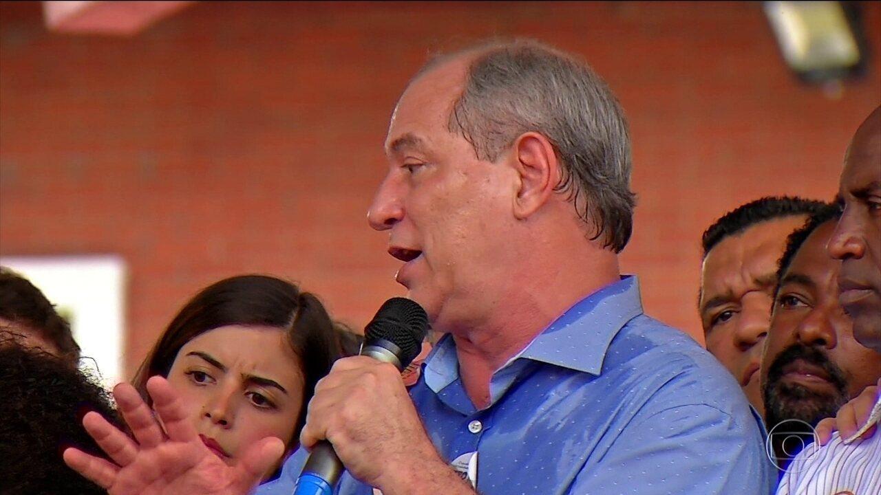 Candidato do PDT, Ciro Gomes, faz campanha no interior de São Paulo