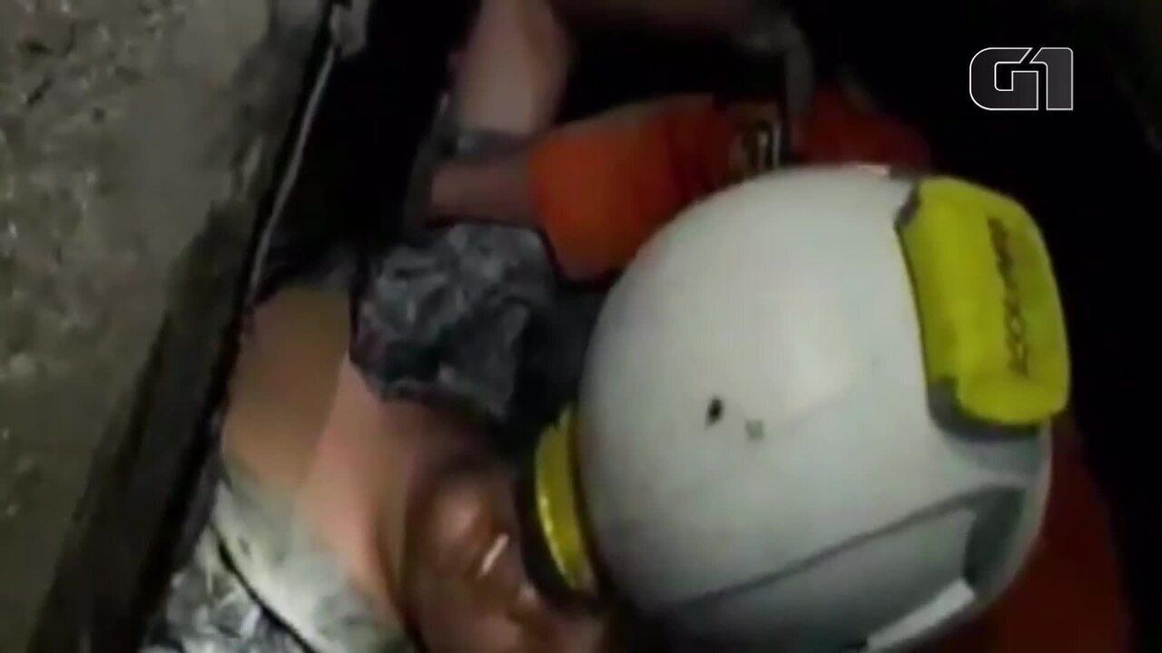 Indonésia: homem é resgatado quatro dias depois do terremoto