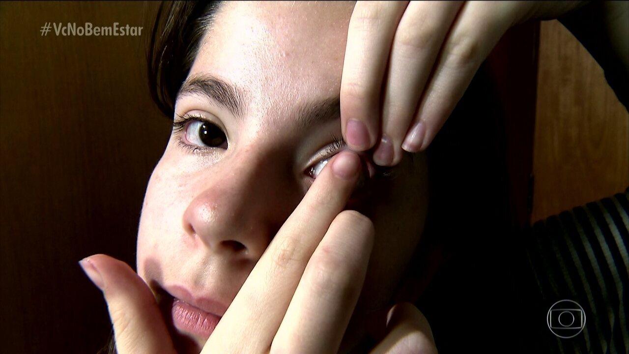 A partir de que idade as lentes de contato são permitidas?