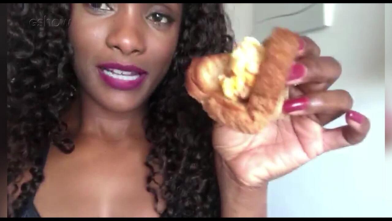 Erika Januza mostra o que come antes do ensaio do Dança dos Famosos