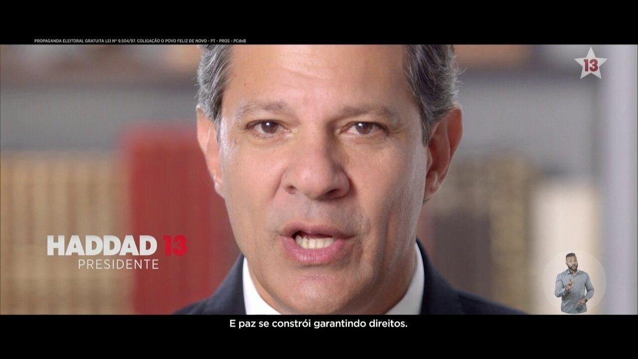 Veja último horário eleitoral do candidato Fernando Haddad