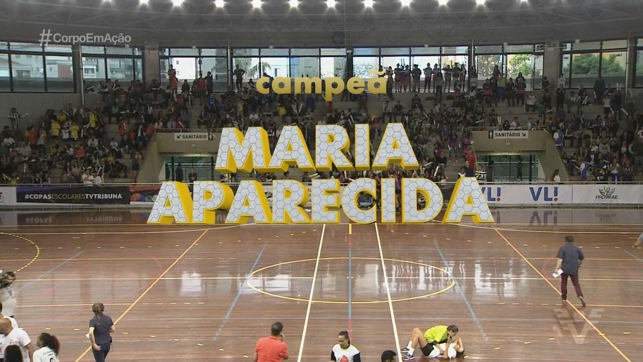 Maria Aparecida Araújo vence a decisão da Copa TV Tribuna de Handebol Escolar