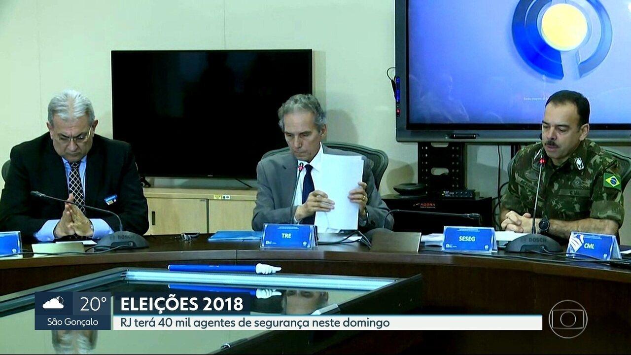 Quarenta mil agentes vão reforçar a segurança nas eleições no Rio de Janeiro