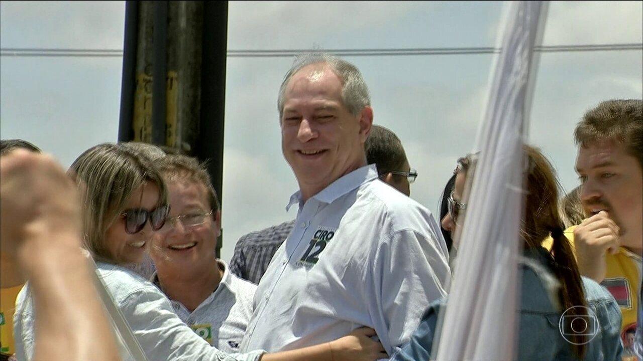 Candidato do PDT, Ciro Gomes faz campanha no Ceará
