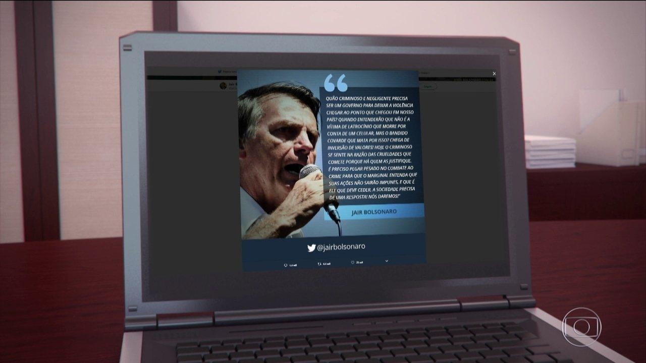 Candidato do PSL, Jair Bolsonaro passa o dia no Rio