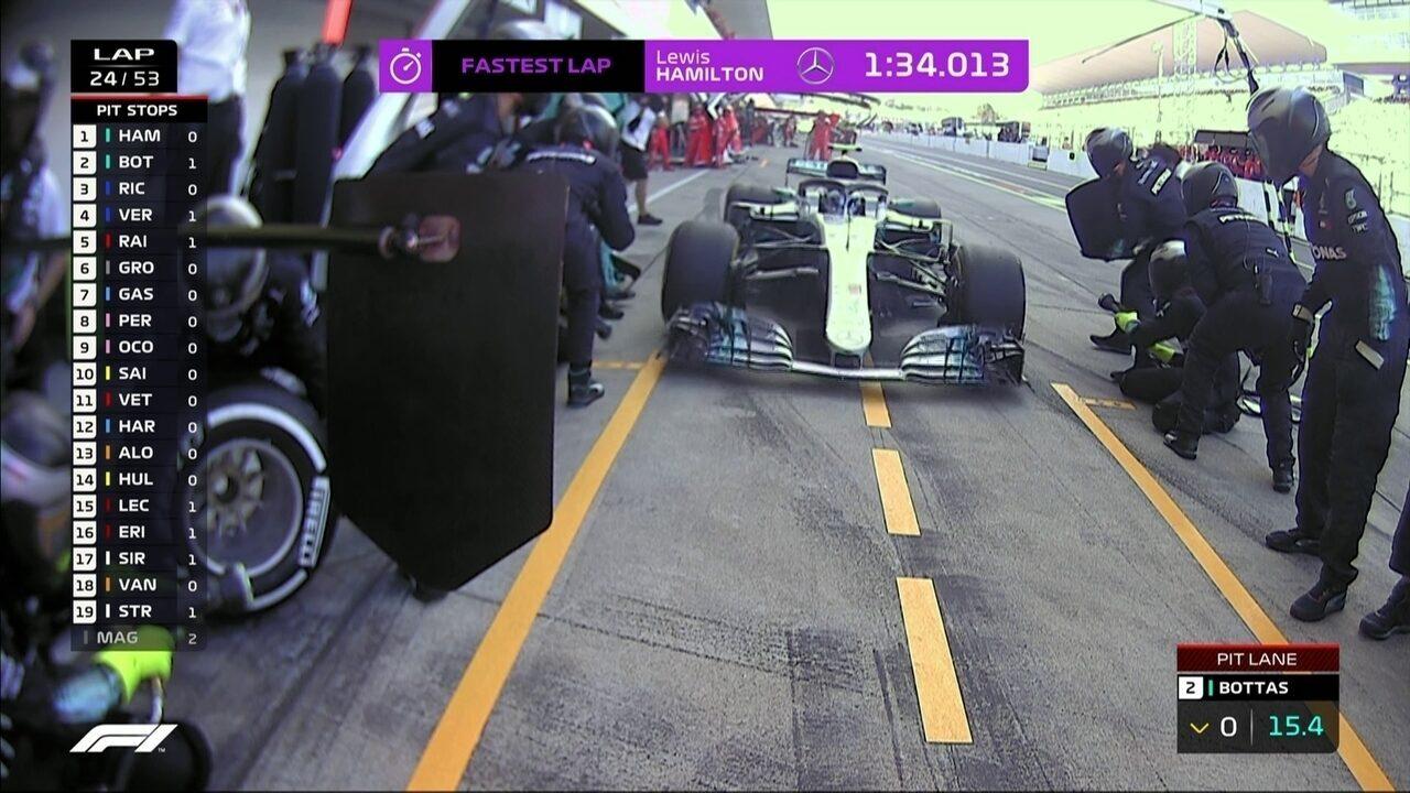 Confira o pit stop de Bottas