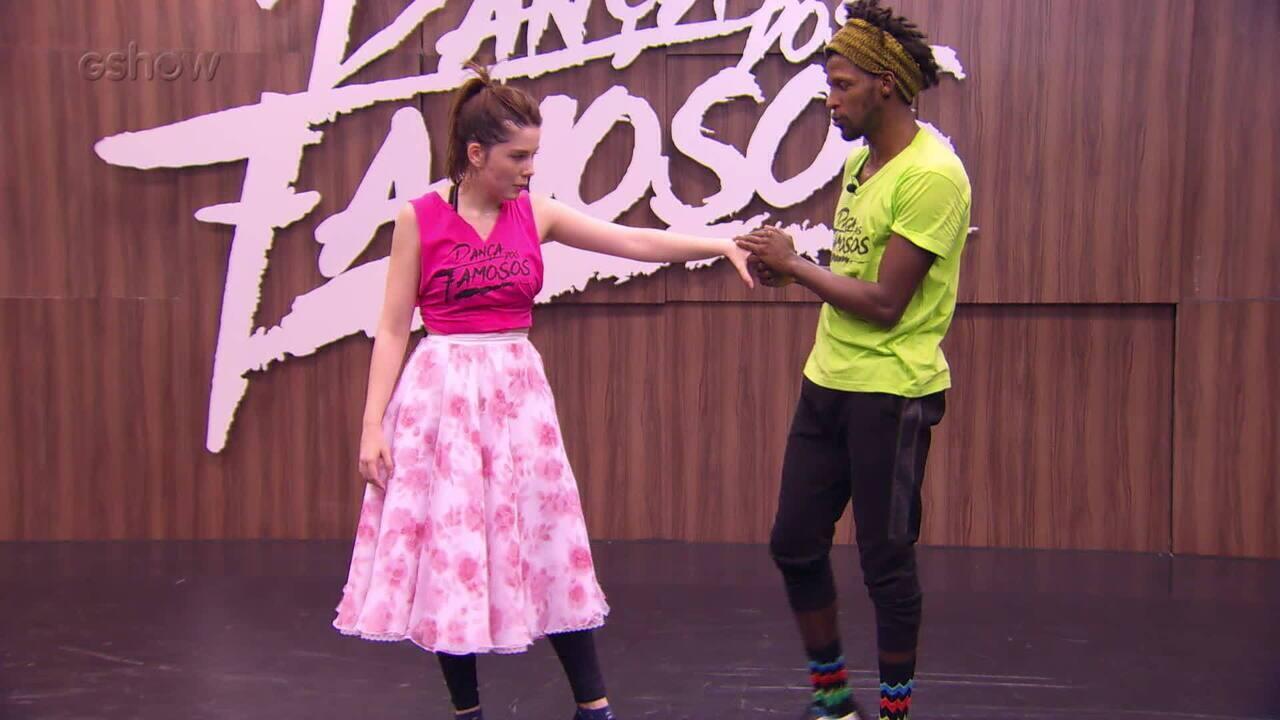 Confira o ensaio de Bia Arantes para o rock do 'Dança dos Famosos'