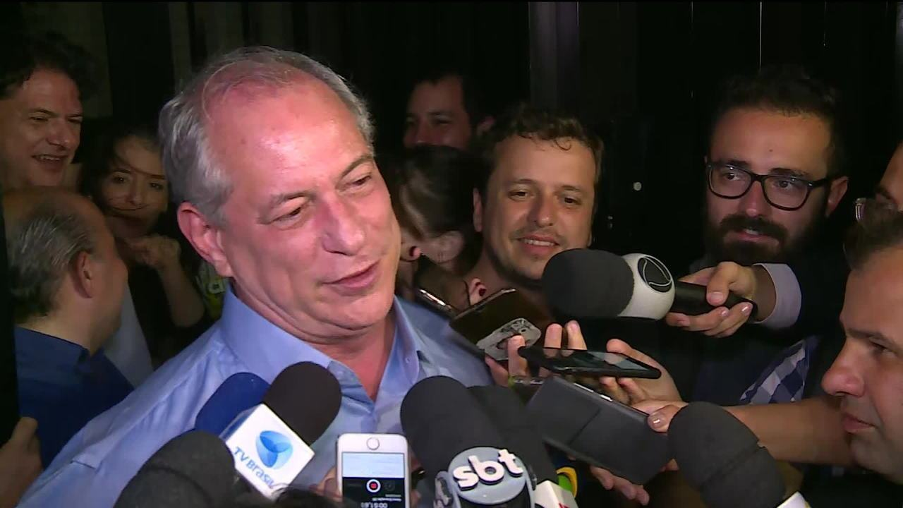 Ciro Gomes declara que não apoiará Bolsonaro