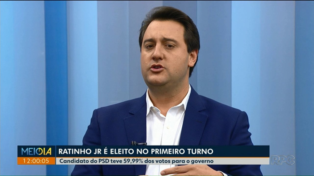 Governador eleito no Paraná, Ratinho Júnior, diz que é preciso investir em iniciativa privada transparente
