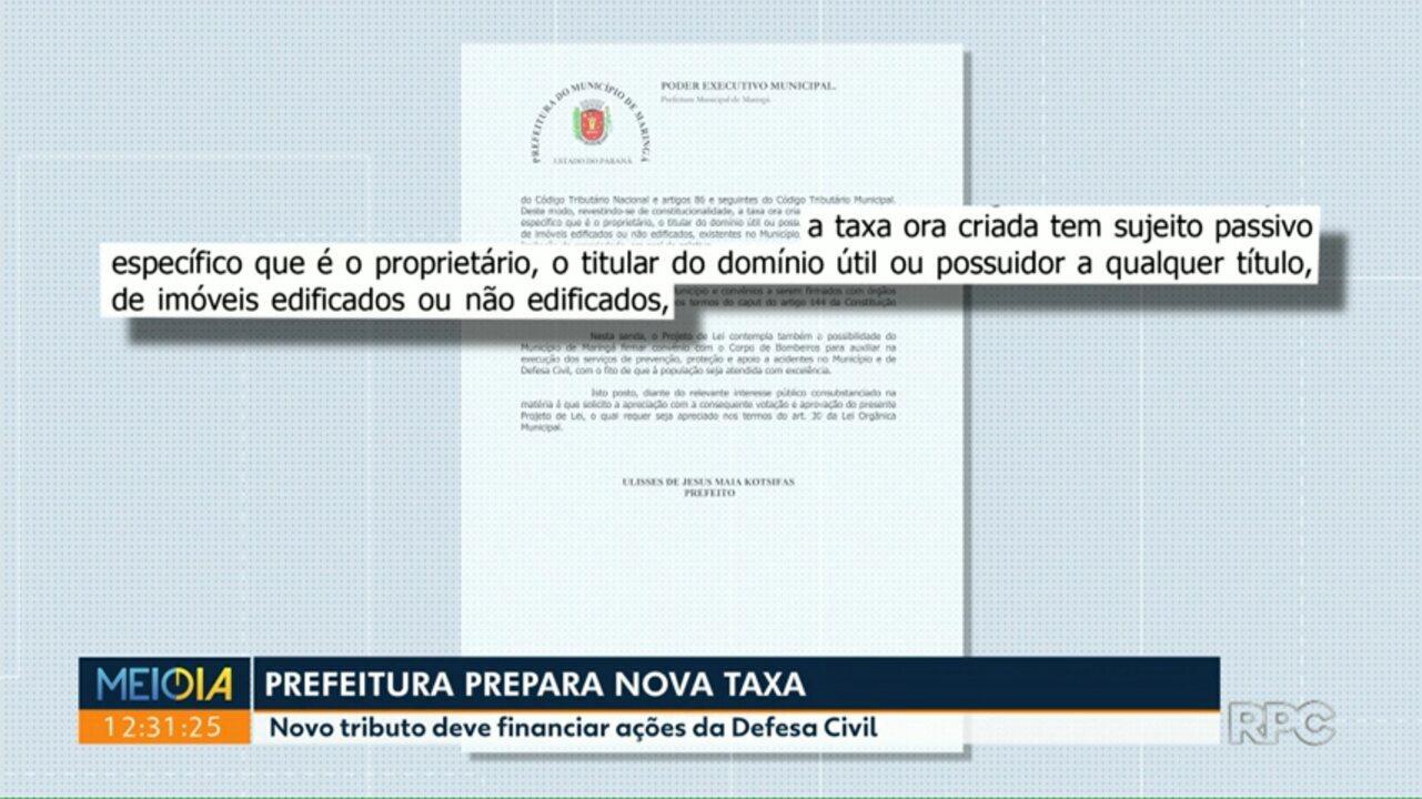 Prefeitura faz projeto para cobrar nova taxa em Maringá