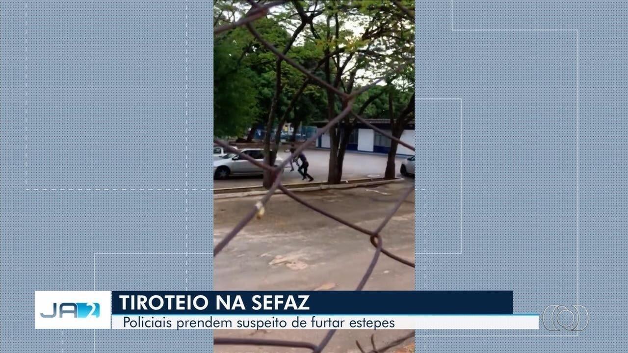 Vídeo mostra momento em que os disparos são feitos, em Goiânia