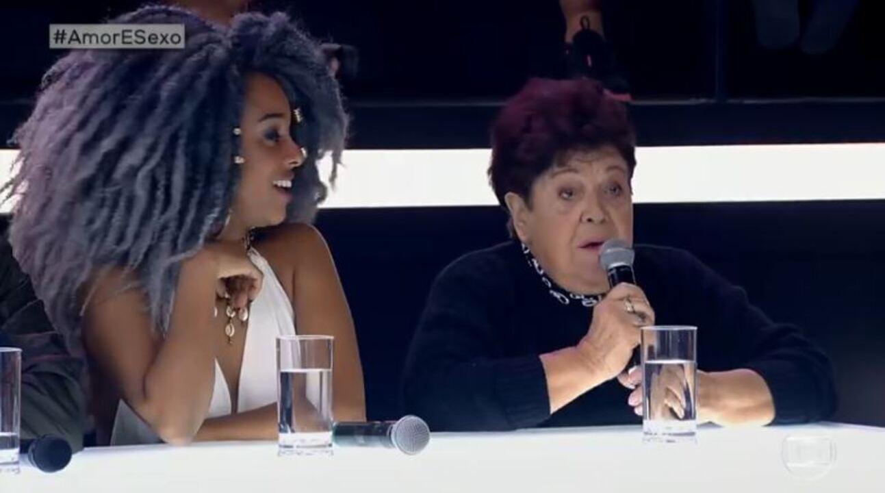 Dona Dulce é jurada técnica de disputa entre Mariana Santos e Edu Sterblitch