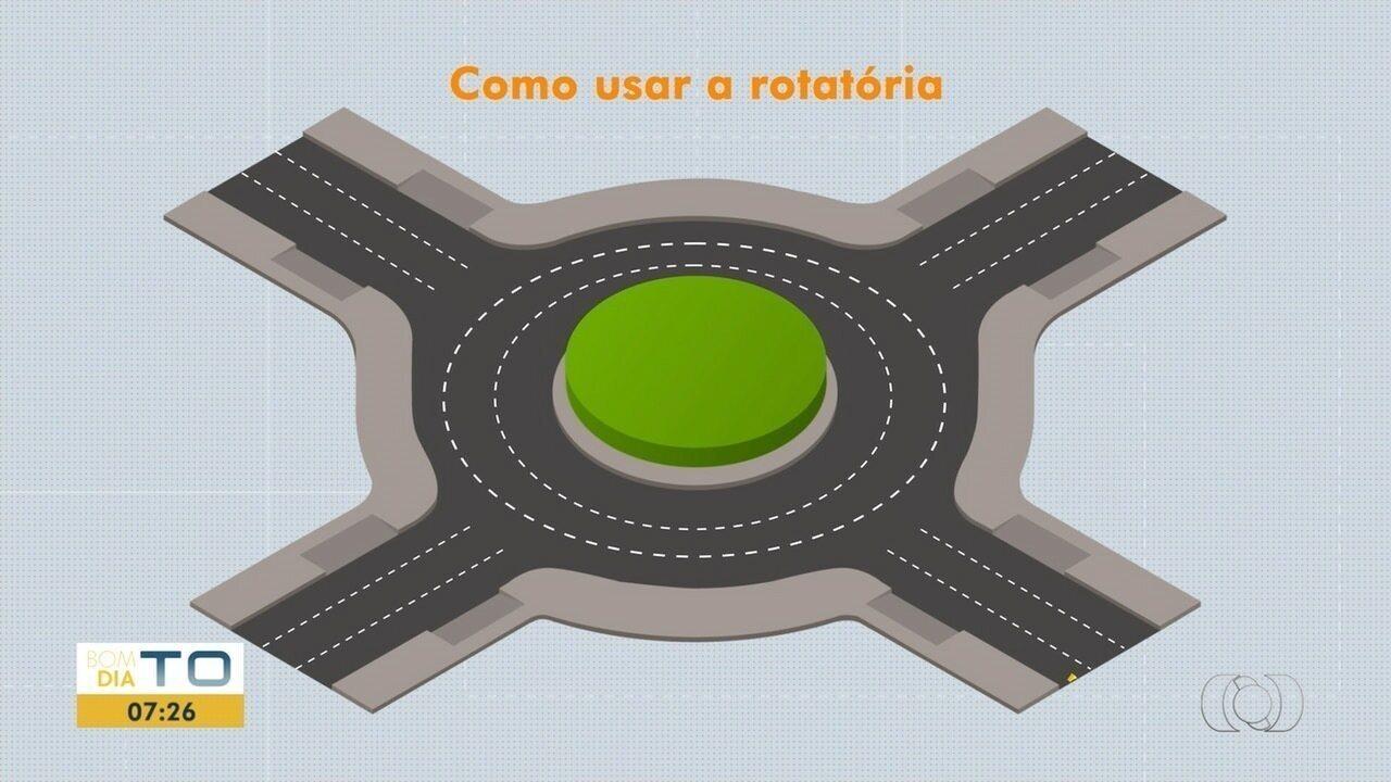 Instrutor dá dicas para usar corretamente a rotatória; veja mais