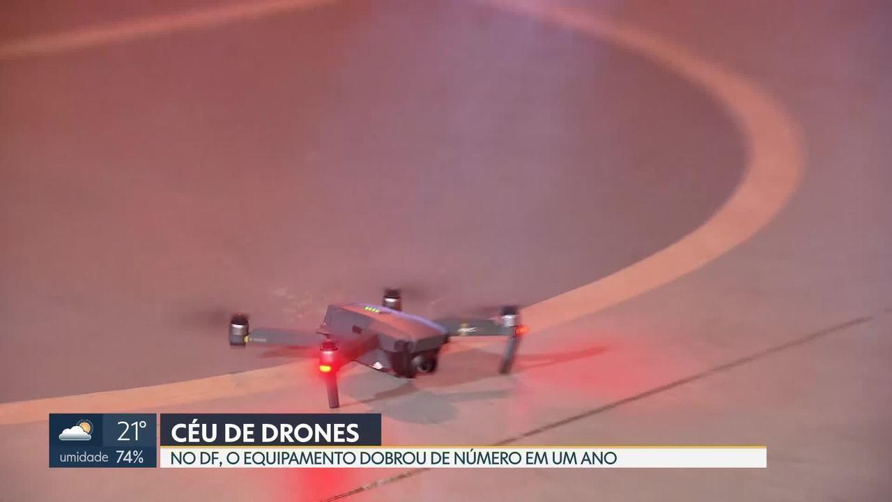 Drones dobram de número no DF