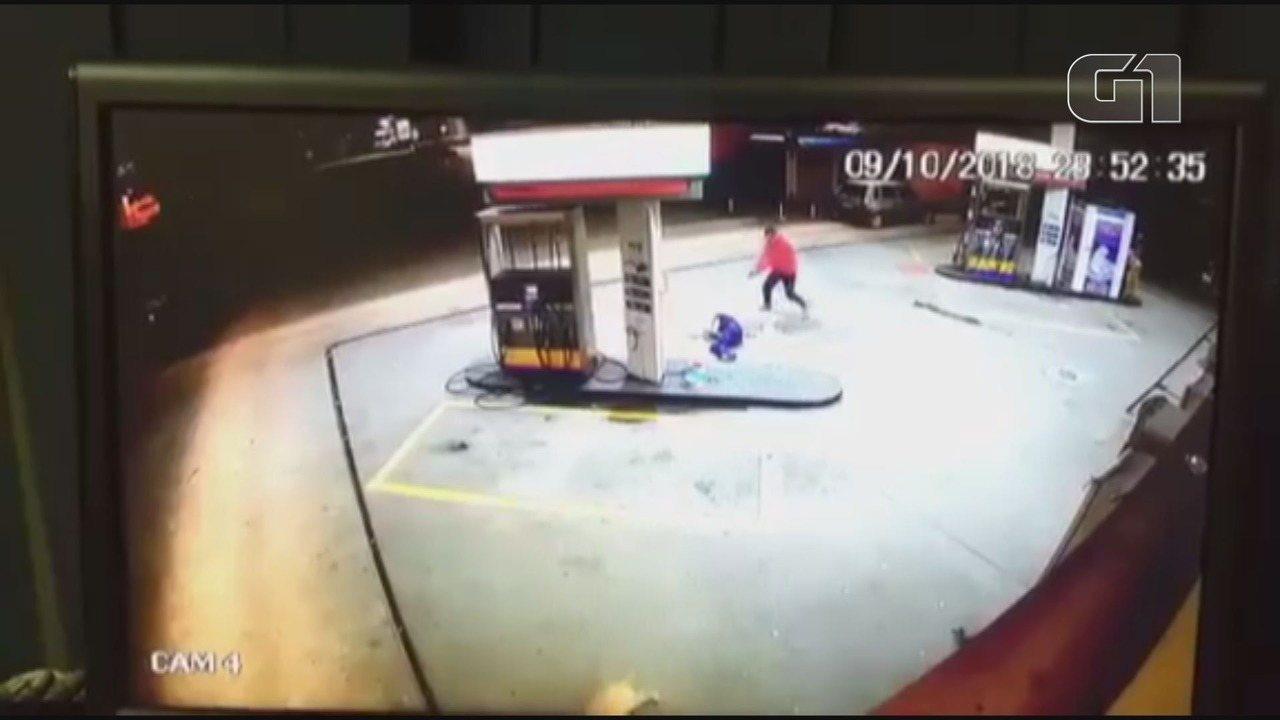 Segurança é baleado durante assalto a posto de combustíveis em Cubatão, SP