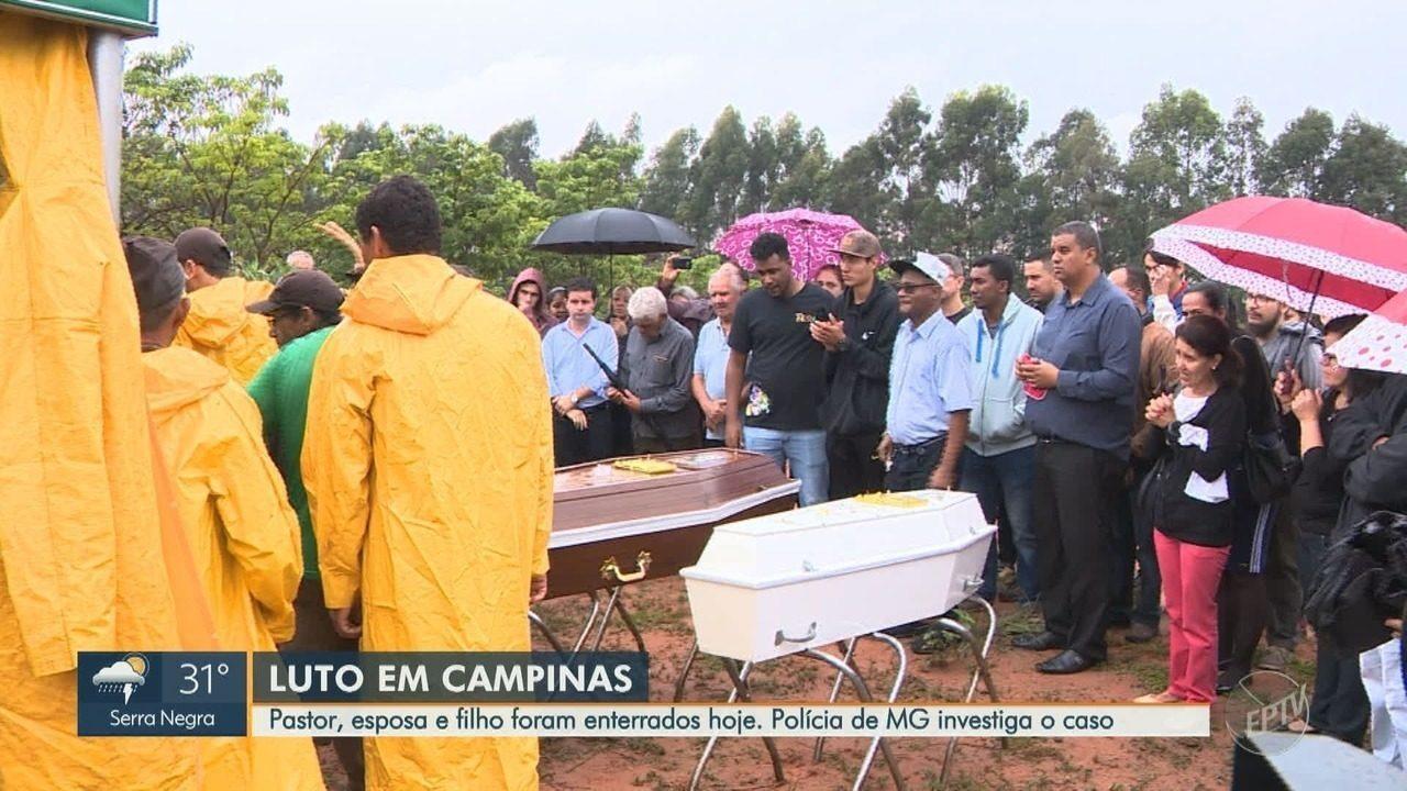 Pastor, esposa e filho envolvidos em acidente são enterrados em Campinas