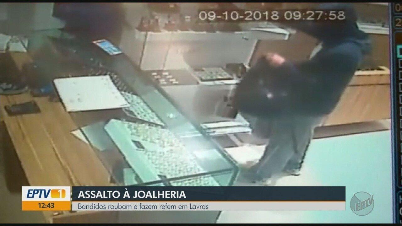 Criminosos assaltam e fazem reféns em joalheria em Lavras (MG)