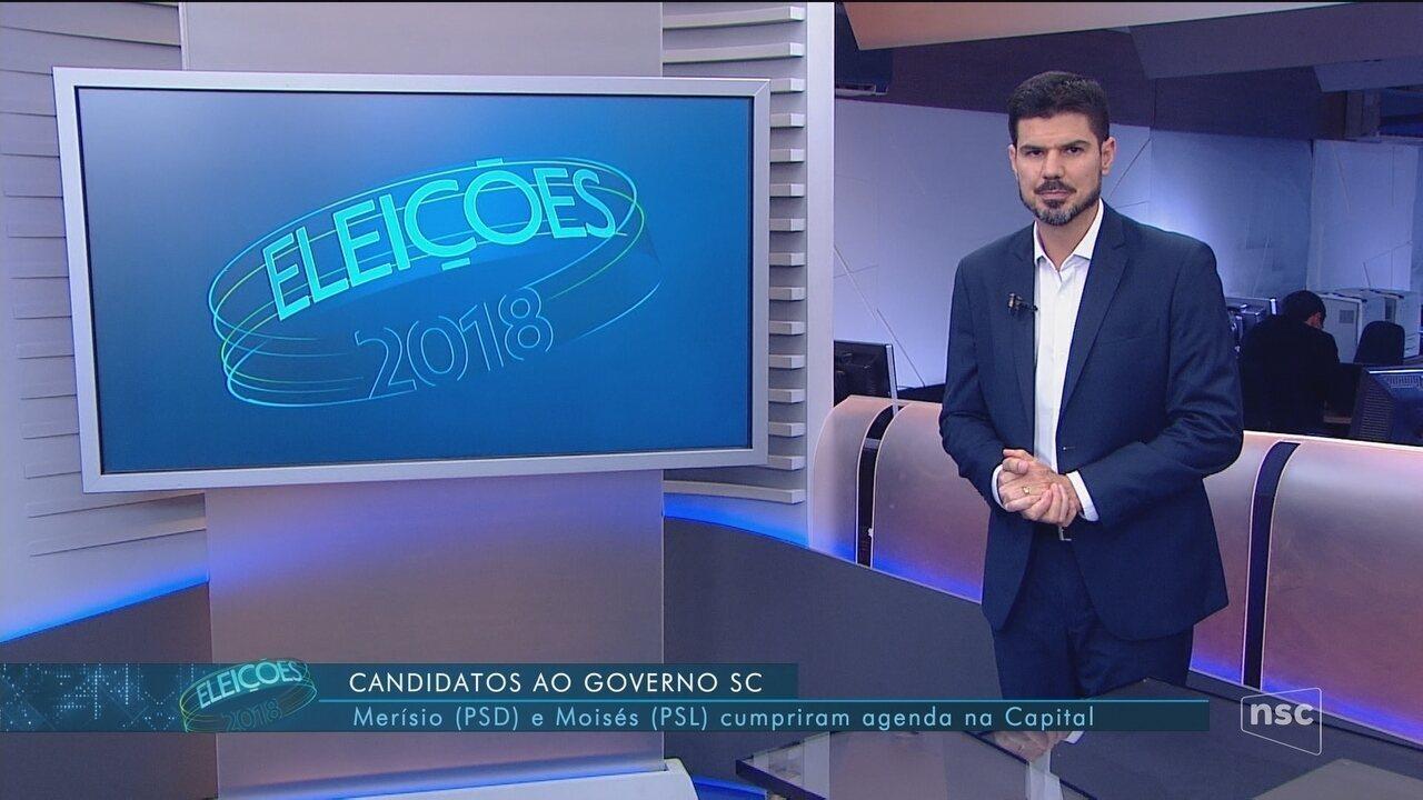 Confira a agenda dos candidatos Comandante Moisés e Gelson Merisio