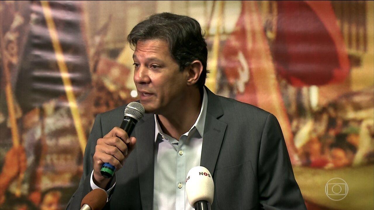 Veja o dia de campanha de Fernando Haddad (PT) nesta quarta-feira (10)