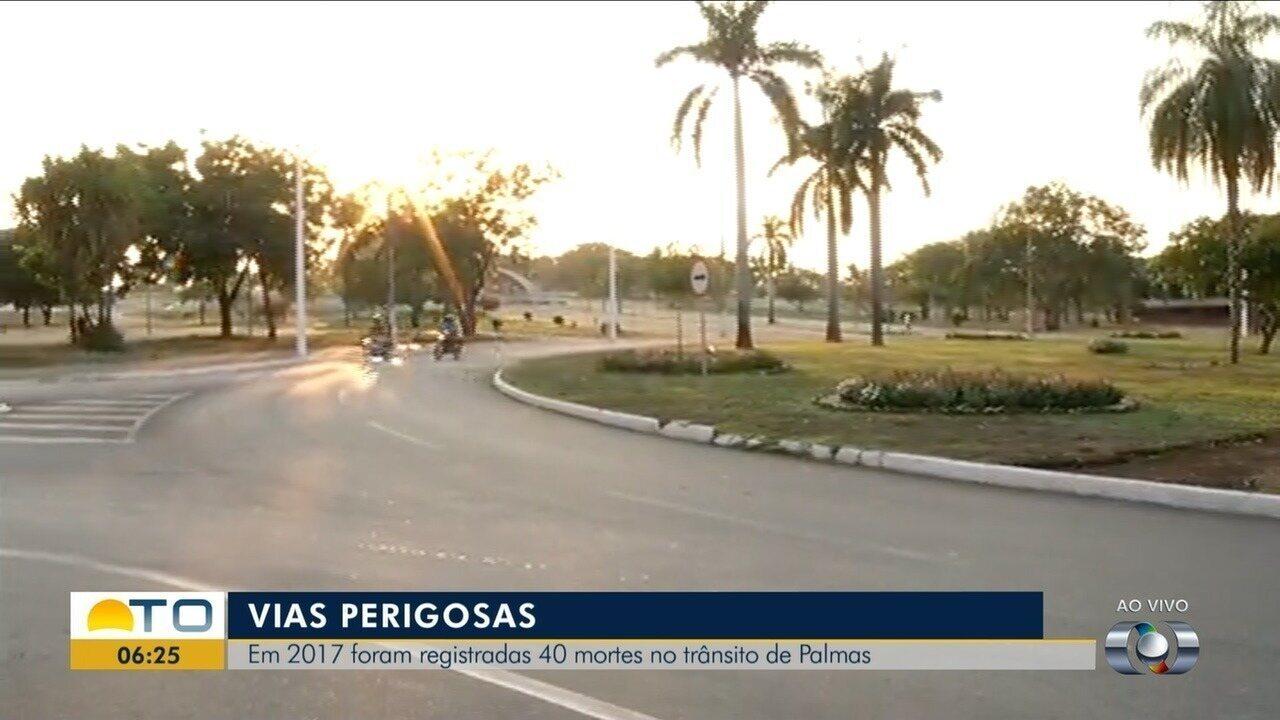Em 2017 foram registrados 40 mortes no trânsito de Palmas