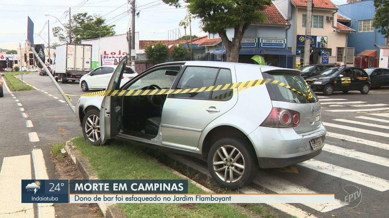 Homem morre esfaqueado dentro do próprio bar no Jardim Flamboyant, em Campinas