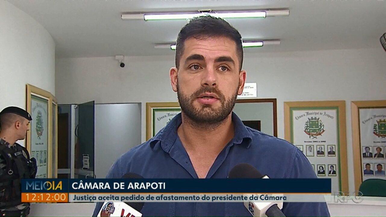 Justiça acata pedido do Ministério Público para afastar o presidente da Câmara de Arapoti