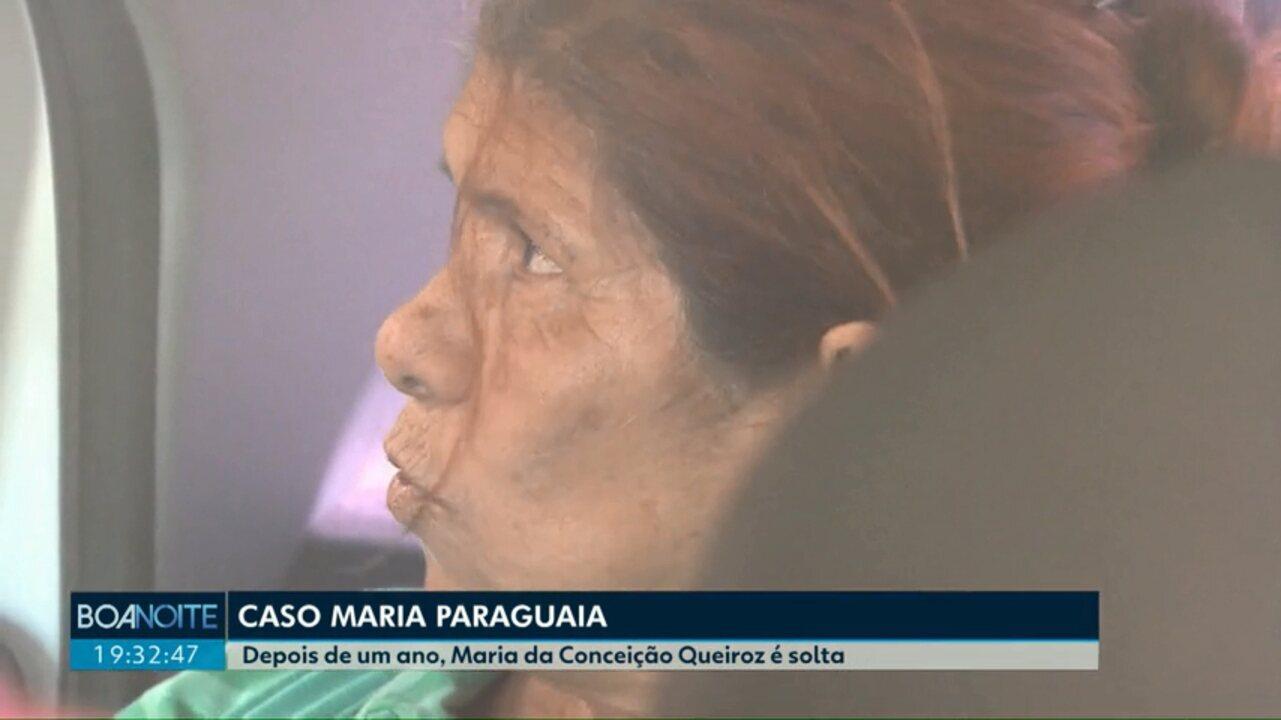 Maria Paraguaia sai da cadeia feminina de Corbélia