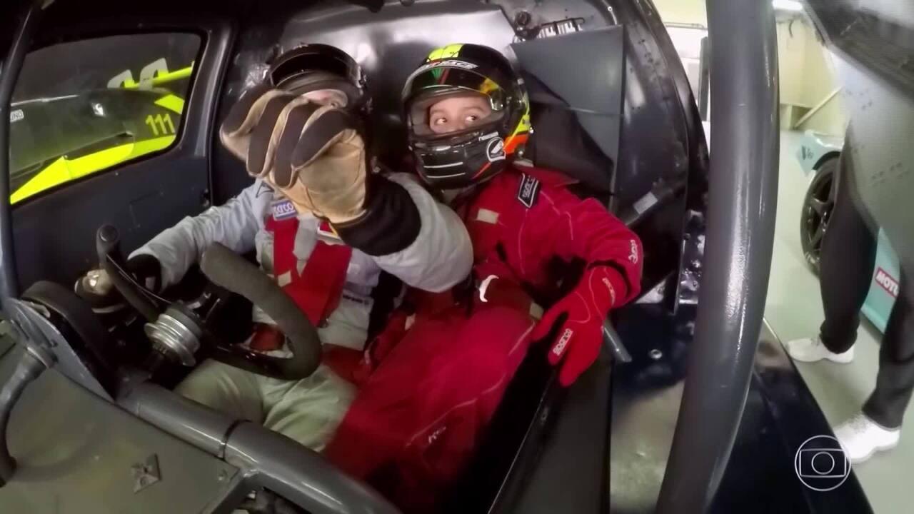 Tarso Marques, levou o pequeno para passear no Autódromo de Interlagos, em São Paulo