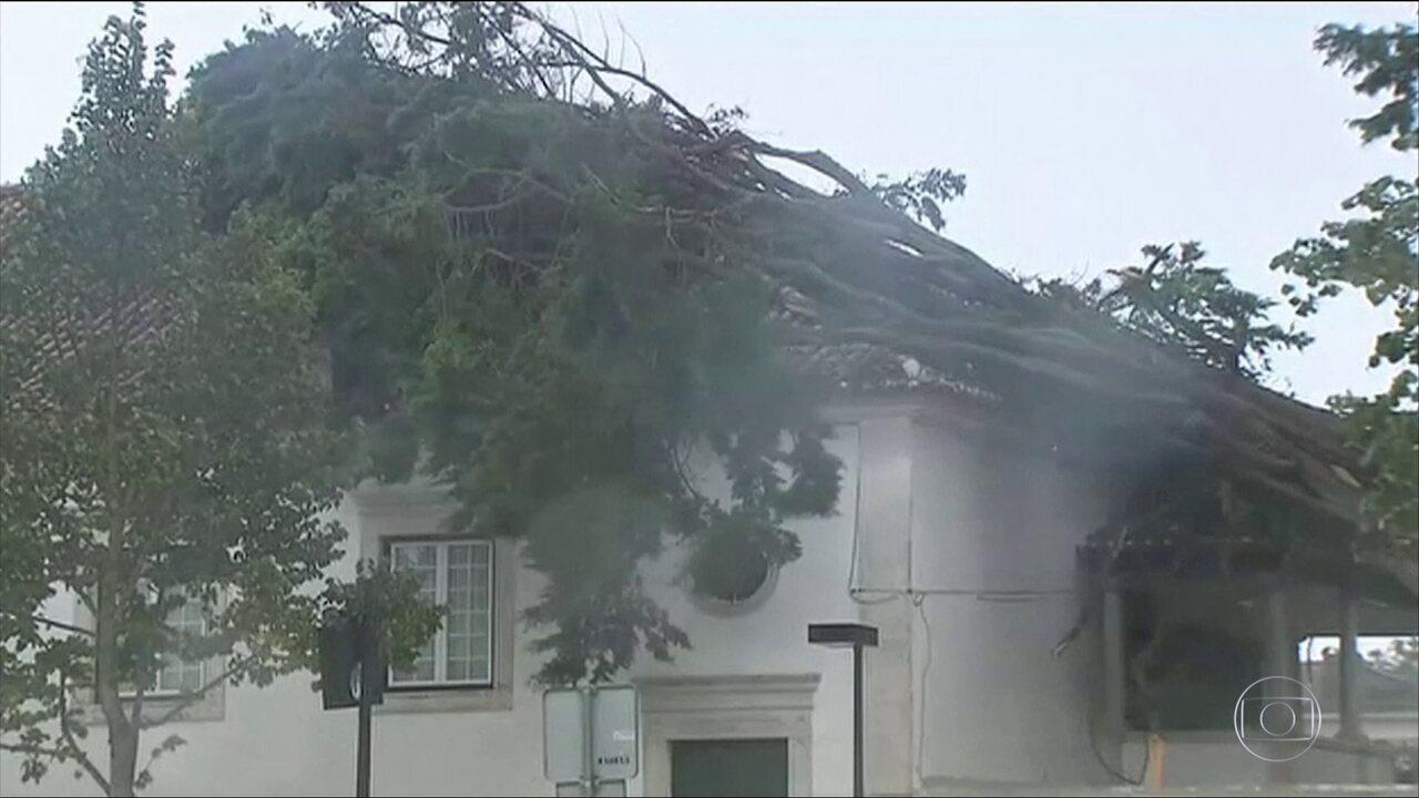 Furacão Leslie provoca uma morte e deixa 28 feridos, em Portugal