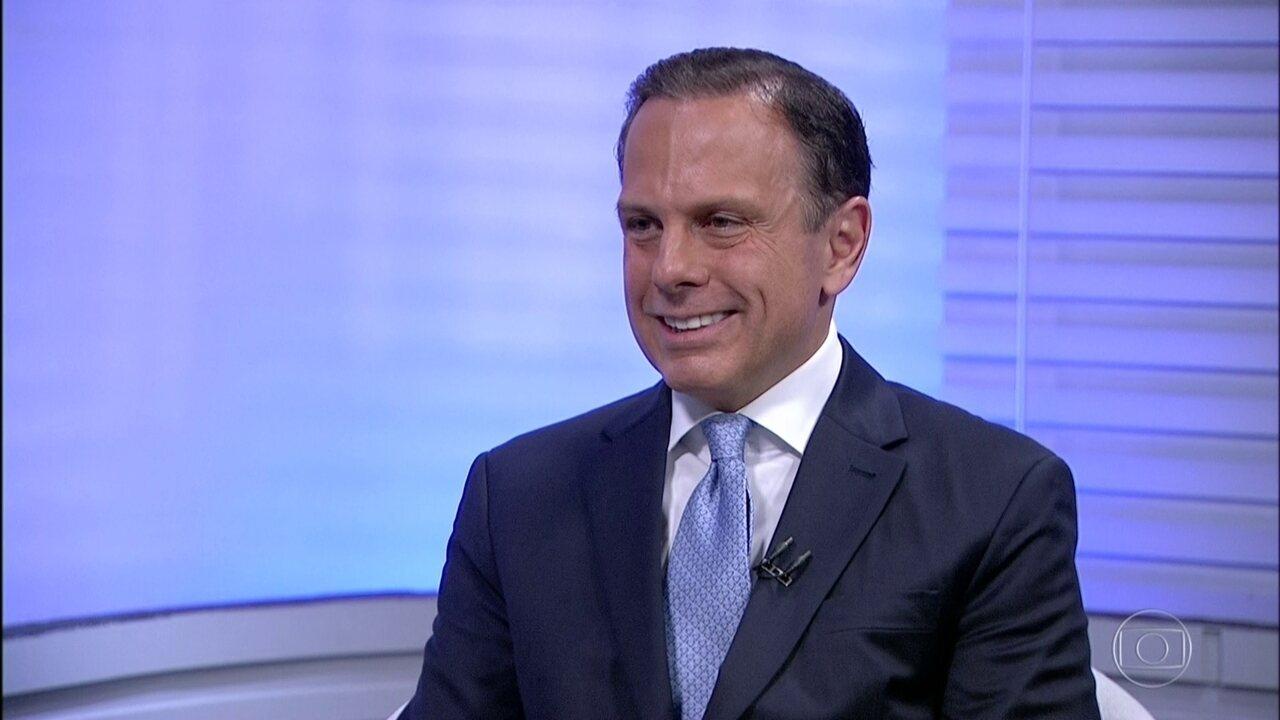 João Doria participa de entrevista para o SP2