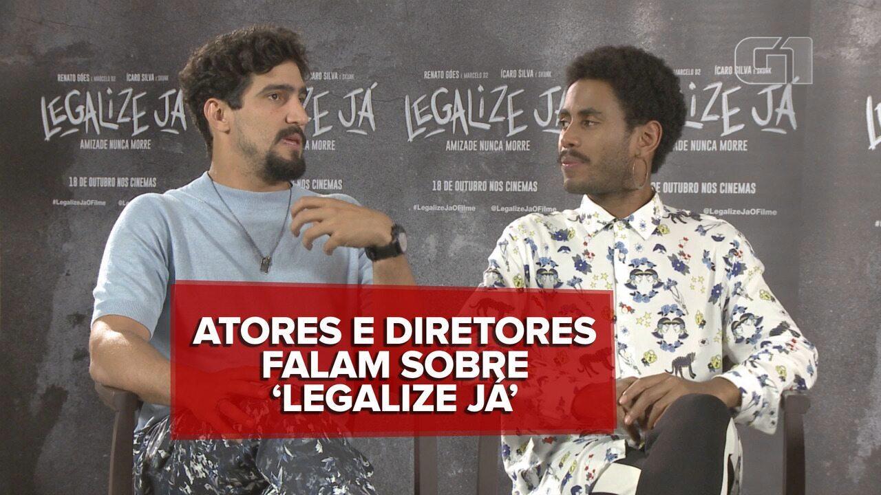 Renato Góes, Ícaro Silva, Johnny Araujo e Gustavo Bonafé falam sobre 'Legalize já'