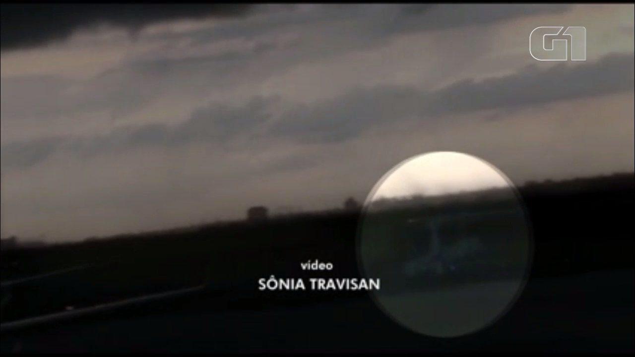 Vídeo mostra momento em que avião vira com a força do vento no Aeroporto de Maringá