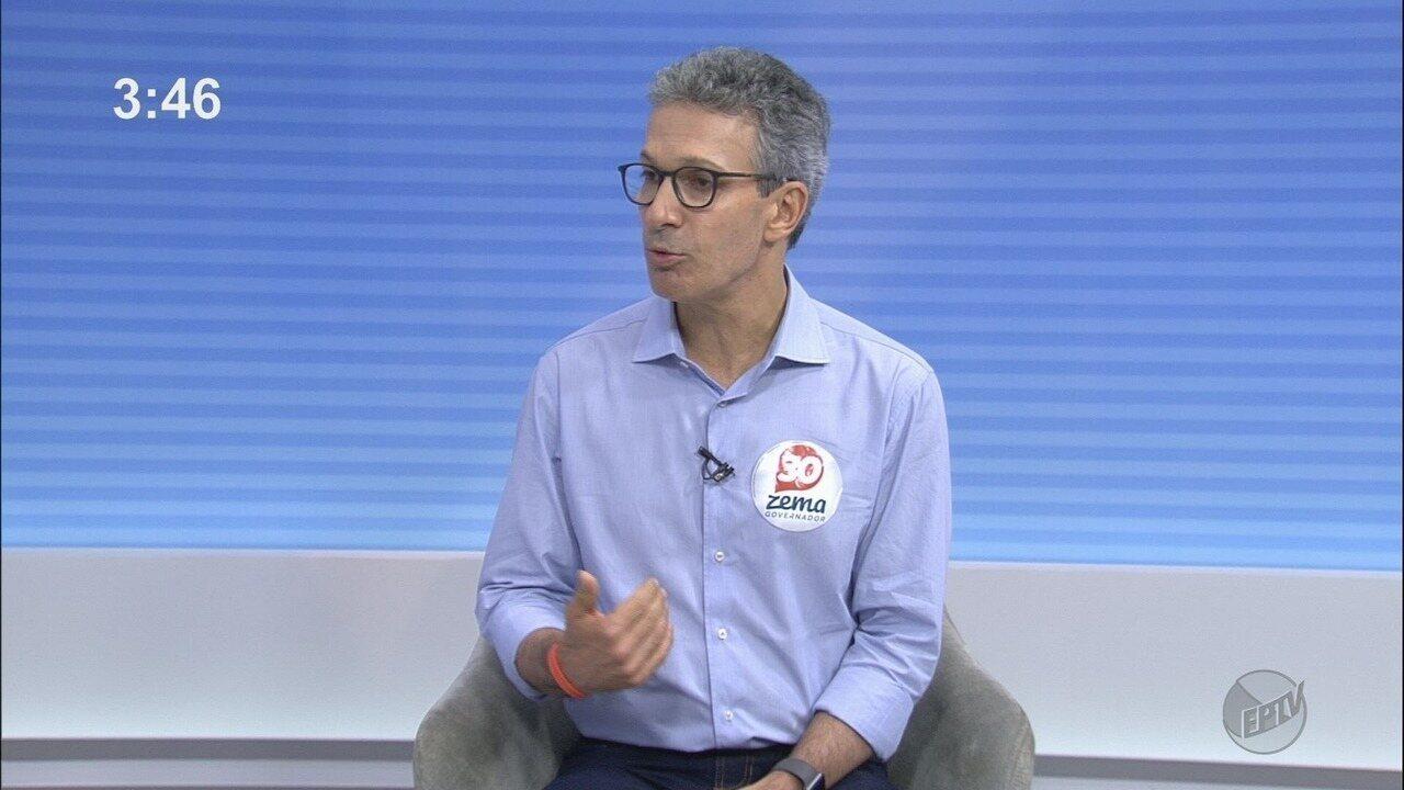 Candidato ao Governo de Minas, Romeu Zema (Novo) concede entrevista ao EPTV 1