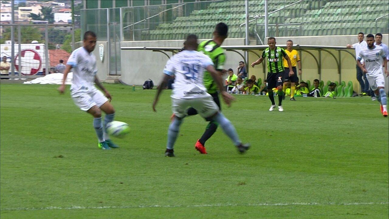 142d6d028e Melhores momentos de América-MG 1 x 1 Grêmio pela 30ª rodada do Campeonato  Brasileiro