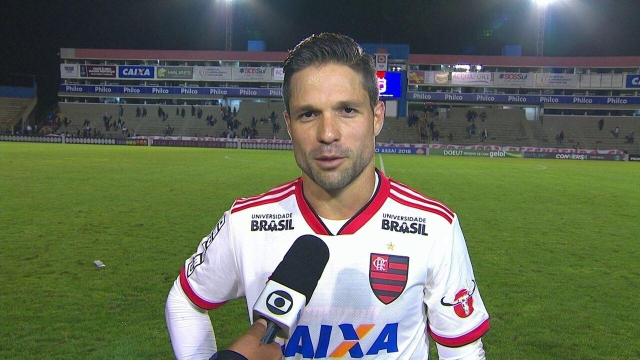 Diego vibra com vitória: