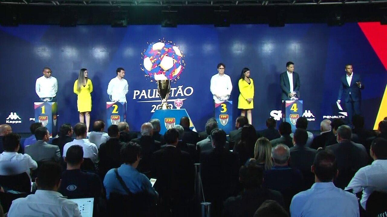 Sorteio do Paulistão 2019: veja como ficaram os grupos do estadual
