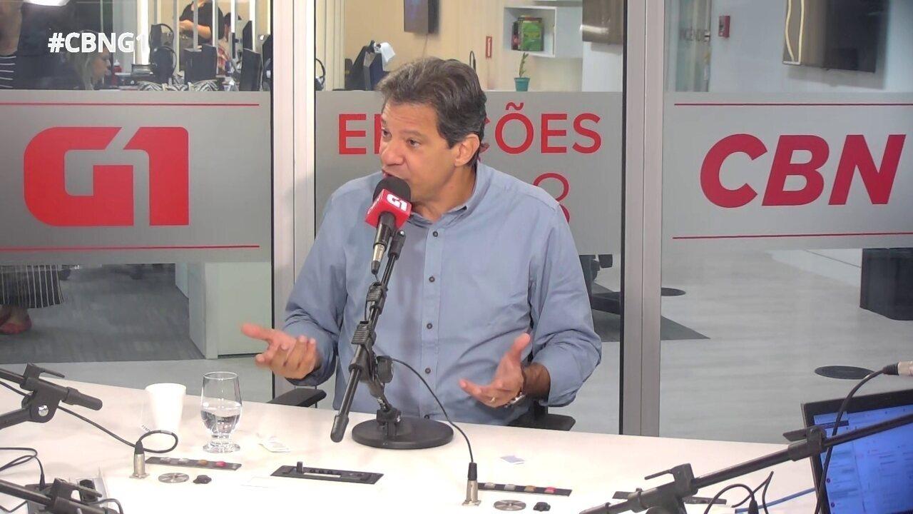 Haddad fala sobre mudanças no plano de governo