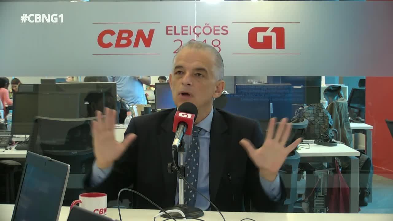 Márcio França (PSB) é entrevistado pelo G1 e pela CBN