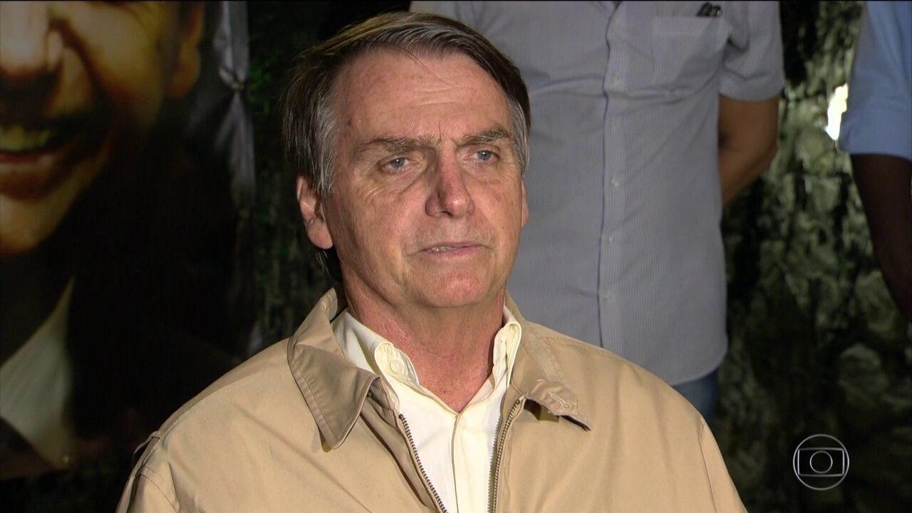 Jair Bolsonaro grava programas eleitorais nesta quinta-feira (25)