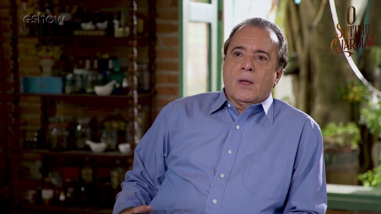 Tony Ramos conta o que o público pode esperar de seu personagem em O Sétimo Guardião