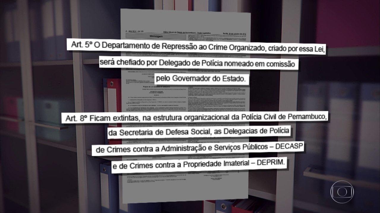 Projeto de lei busca dar fim a delegacia de combate à corrupção pública em Pernambuco