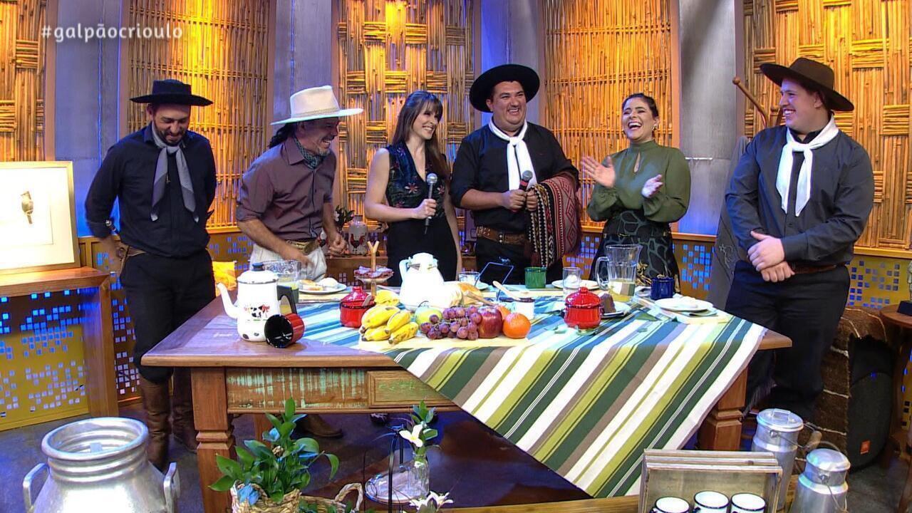Reveja o quarto bloco do Galpão Crioulo de domingo (28)