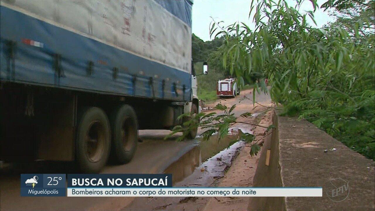 45533683375 Bombeiros encontram corpo do motorista que caiu de ponte em Patrocínio  Paulista