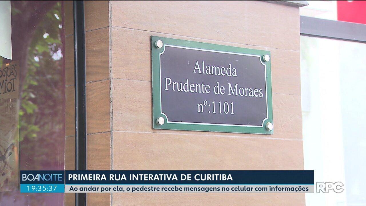 Conheça a primeira rua interativa de Curitiba
