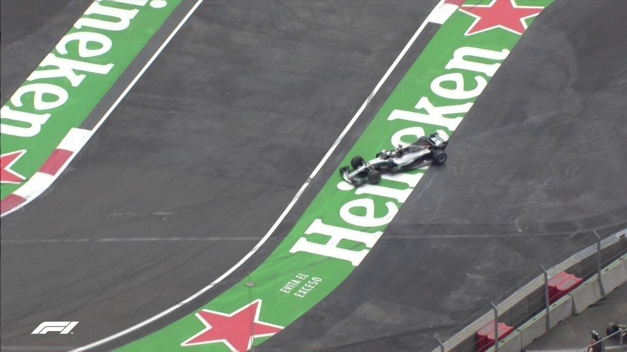 Hamilton faz a festa após título no GP do México
