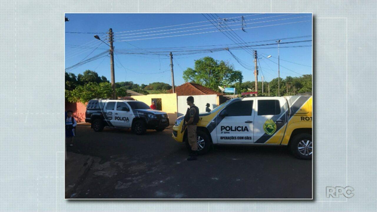 Polícia faz operação para combater o tráfico de drogas em Bandeirantes