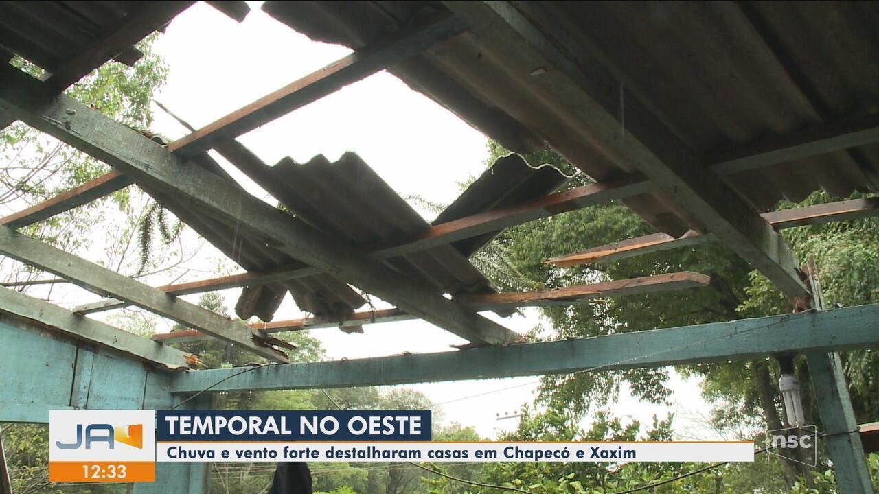 Chuva provoca estragos em 15 cidades de SC