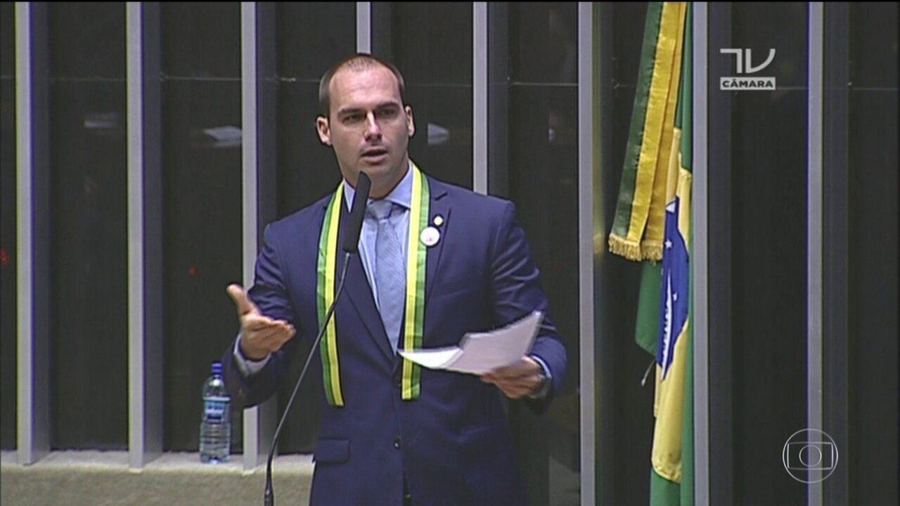 STF notifica Eduardo Bolsonaro, PSL, para que apresente defesa sobre denúncia de ameaça