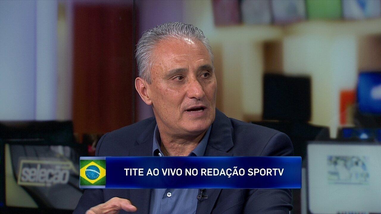 """Tite falou sobre Fernandinho no """"Redação SporTV"""" do dia 2 de novembro"""