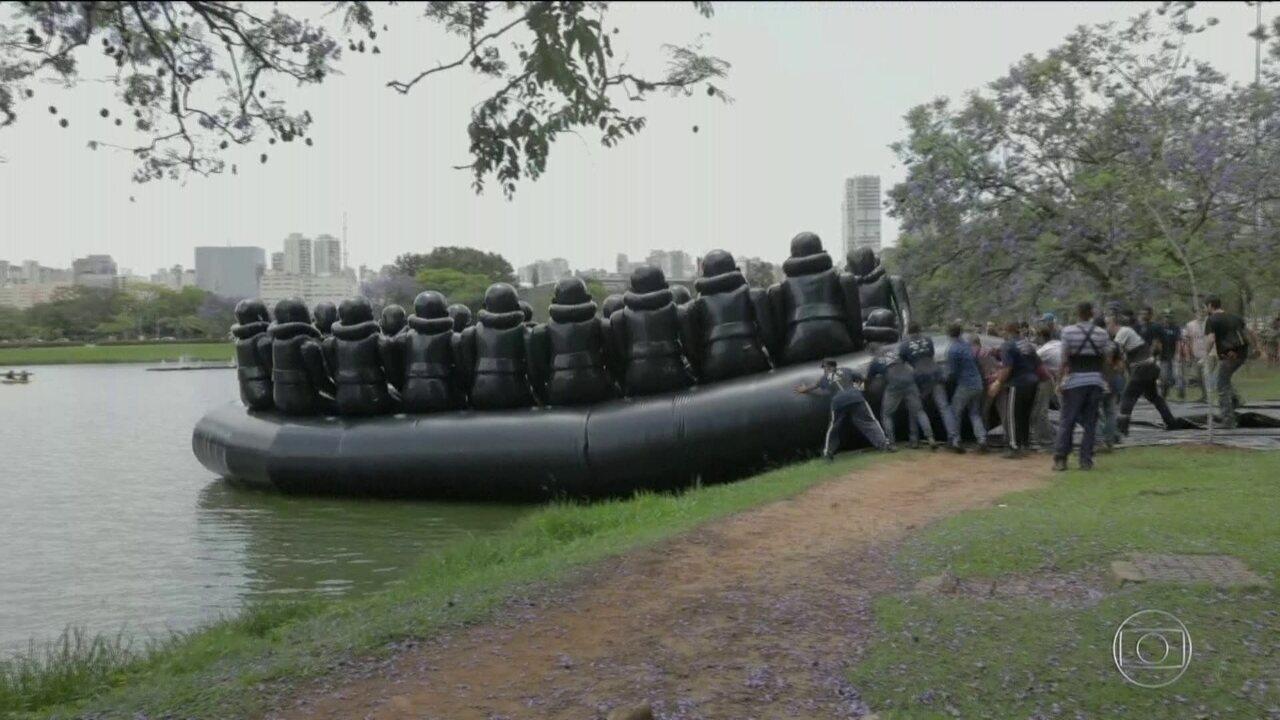Obras do artista chinês Ai Weiwei são expostas em São Paulo